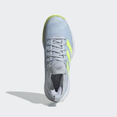 Zapatillas Defiant Generation Multicourt Azul Mujer Tenis