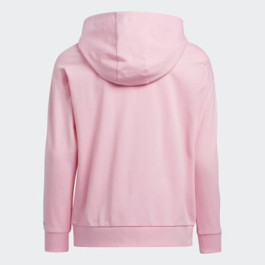 Youth Training Pink French Terry Badge of Sport Pullover Hoodie