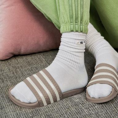 Chancla adidas Adilette Beige Mujer Originals