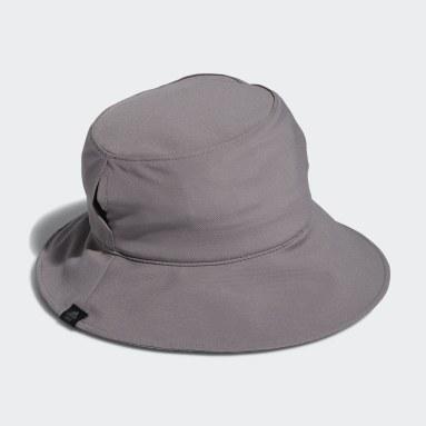 Women's Golf Grey Ponytail Sun Bucket Hat