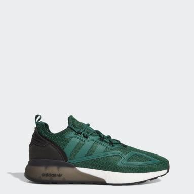 Men's Originals Green ZX 2K Boost Shoes