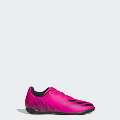 Boys Football Pink X Ghosted.4 Indoor Boots