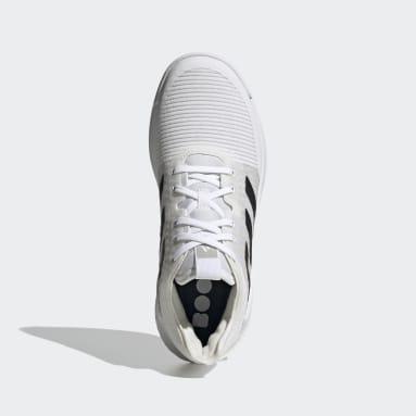 Women Table Tennis White Crazyflight Shoes