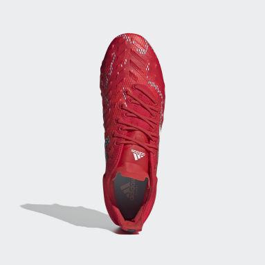 Bota de rugby Predator XP césped natural húmedo Rojo Rugby