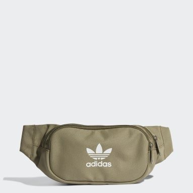 Originals Green Adicolor Branded Webbing Waist Bag