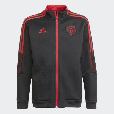 Boys Football Black Manchester United Tiro Anthem Jacket