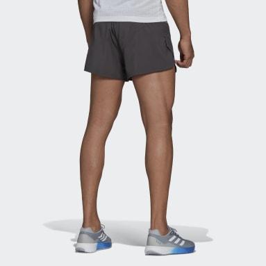 Men Running Grey Saturday Split Shorts
