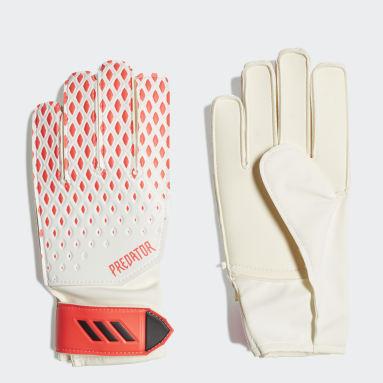 Youth 8-16 Years Football White Predator 20 Training Goalkeeper Gloves