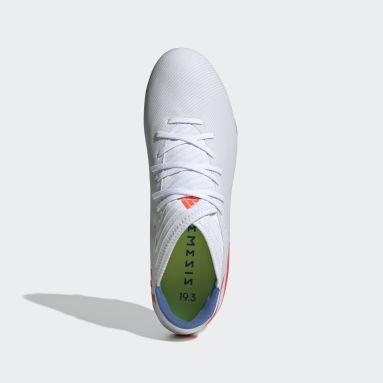 Calzado de Fútbol Nemeziz Messi 19.3 Terreno Firme Blanco Hombre Fútbol
