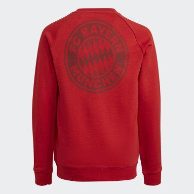 Youth Soccer Red FC Bayern Crew Sweatshirt