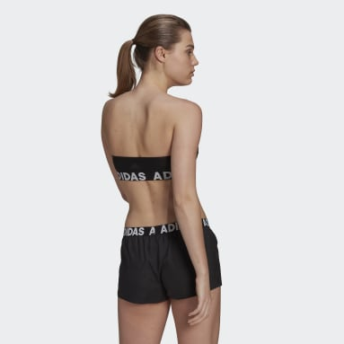 Top SH3.RO Branded Bandeau Nero Donna Nuoto