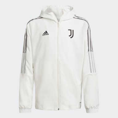 Kids Football White Juventus Tiro Presentation Jacket