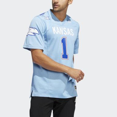 Men's Football Blue Kansas Hail to old KU Jersey