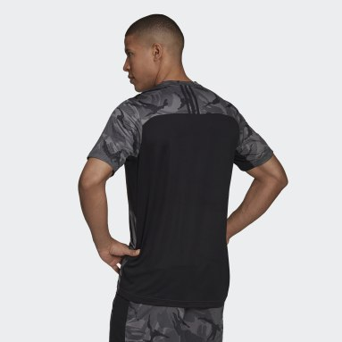 Men's Training Grey AEROREADY  Designed to Move Sport Camo Logo Tee