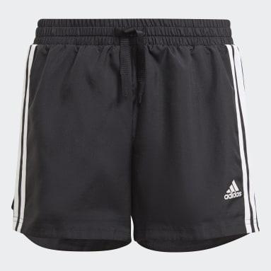 Pantalón corto adidas Designed To Move 3 bandas Negro Niña Gimnasio Y Entrenamiento