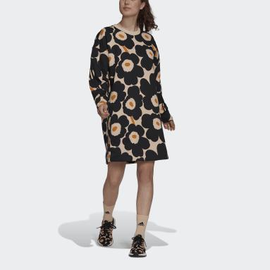 Vestido em Fleece Marimekko adidas Sportswear Rosa Mulher Sportswear