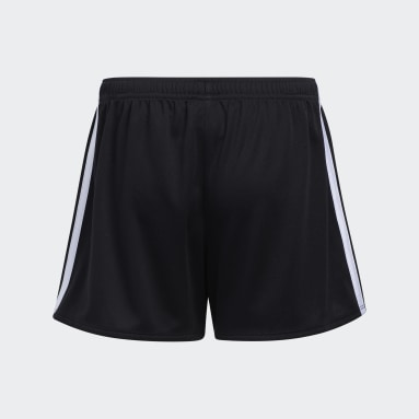 Youth Training Black 3-Stripes Mesh Shorts (Extended Size)