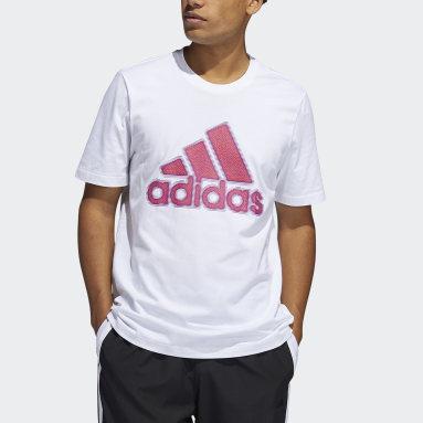 Men Basketball White Ignite Badge of Sport Graphic Tee