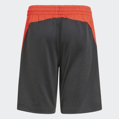 Boys Gym & Training Black AEROREADY X Football-Inspired Shorts