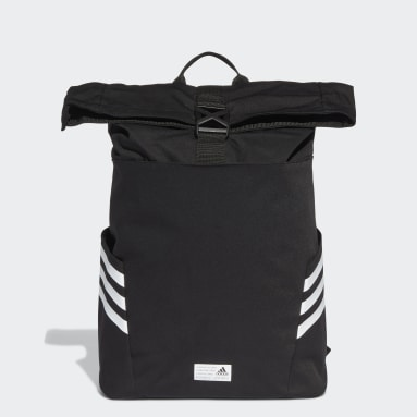 Lifestyle Black Classic Roll-Top Backpack