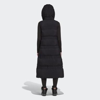 Women Y-3 Black Y-3 Classic Puffy Down Long Vest