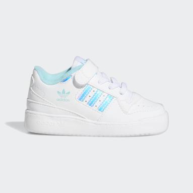 Infants Originals White Forum Iridescent Shoes