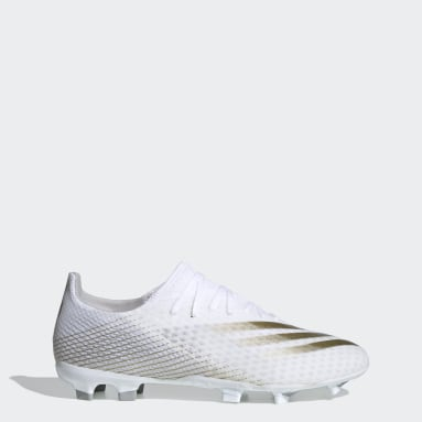 Men Football White X Ghosted.3 Firm Ground Boots