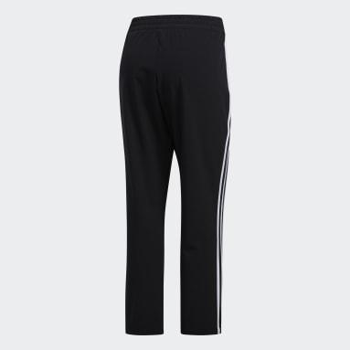 Women Training Black 3-Stripes 7/8 Pants