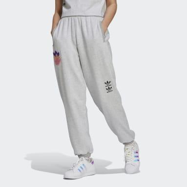 Ženy Originals šedá Kalhoty Logo Play Cuff