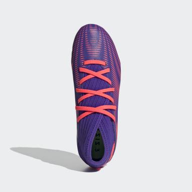 Boys Football Purple Nemeziz .3 Firm Ground Boots