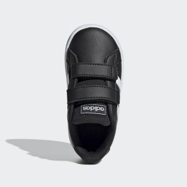 Tenis adidas Grand Court Negro Niño Essentials