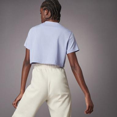 Dames Hardlopen Paars Hyperglam Cropped T-shirt
