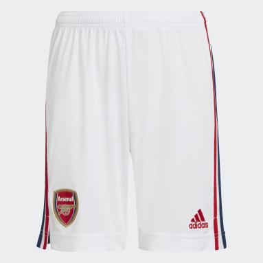 เด็ก ฟุตบอล สีขาว กางเกงฟุตบอลชุดเหย้า Arsenal 21/22