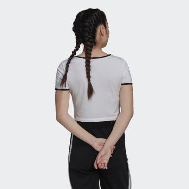 Camiseta Slim Cropped Blanco Mujer Originals