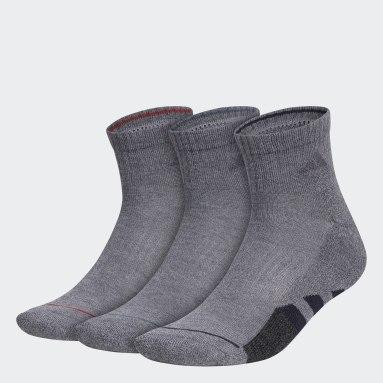 Men's Training Grey Cushioned 2.0 Color Quarter Socks 3 Pairs
