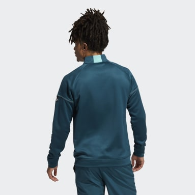Sweat-shirt Equipment Quarter-Zip Turquoise Hommes Golf