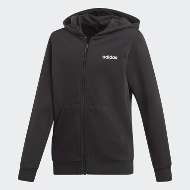 Boys Sportswear Black Essentials Linear Hoodie
