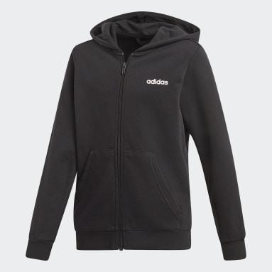 Veste à capuche Essentials Linear Noir Garçons Sportswear