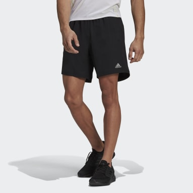 Men Running Black Run It Shorts
