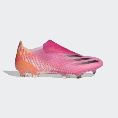 Botas de Futebol X Ghosted+ – Piso firme Rosa Futebol