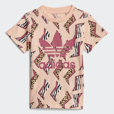 Allover Print T-skjorte Rosa