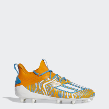 Men's Football Orange Adizero 10.0 Zubaz Football Cleats