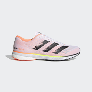 Men Running White Adizero Adios 5 Shoes