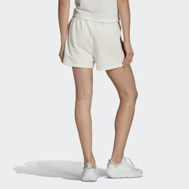 Women Originals White Tennis Luxe 3-Stripes Shorts