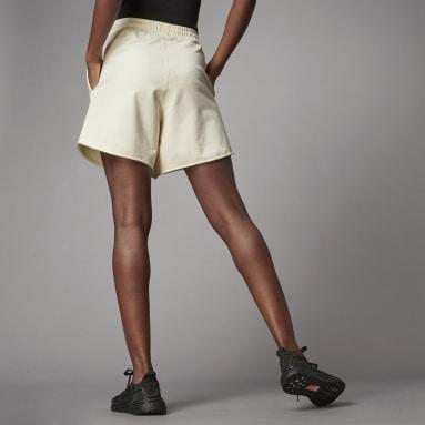 Women Sportswear White Terra Love French Terry Shorts