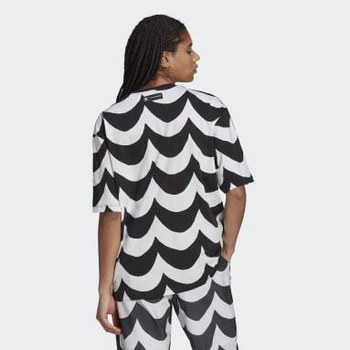 ผู้หญิง Originals สีดำ เสื้อยืดโอเวอร์ไซส์ Marimekko
