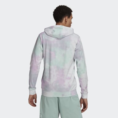 Men Essentials Turquoise Essentials Tie-Dyed Inspirational Hoodie