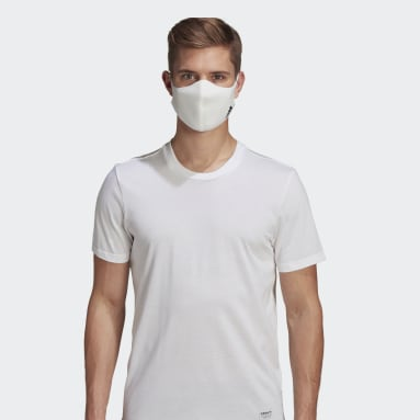 Men Sportswear White Face Covers 3-Pack M/L