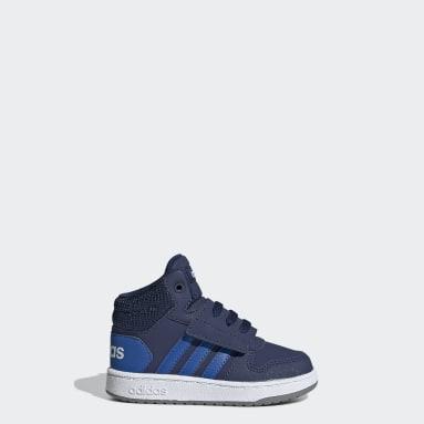 Kinderen Basketbal blauw Hoops 2.0 Mid Schoenen