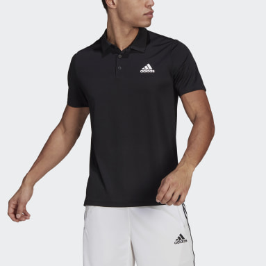 Men Training Black AEROREADY Designed To Move Sport Polo Shirt
